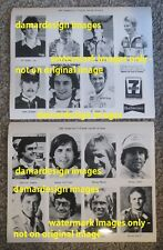 ☆ 1982 Press Photo Media PROMO - Lot of 15 Driver Images - Budweiser 7-11 CAN-AM