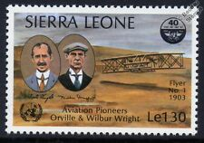 1903 Orville & Wilbur WRIGHT Brothers FLYER 1 Aircraft Stamp (1985 Sierra Leone)