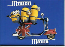 New Minions Mania Refrigerator Magnet/Bob, Stuart, Kevin on British Scooter