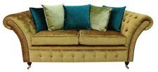 Chesterfield Design Luxus Polster Sofa Couch Sitz Garnitur Leder Textil Neu #231
