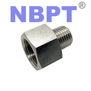 """Reducer 1/4"""" Female NPT to 1/8"""" Male NPT Pipe Adapter Brass Water Oil Gas Air"""