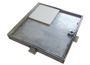 300x300mm Floor Duct Access Panel Hatch - Fire Rated Recessed Lid