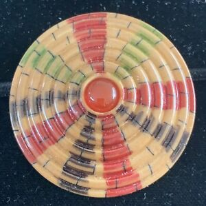 Modern Xlg Colorful Tagua Nut Button with Carnelian