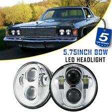 "2x 5-3/4"" 5.75"" LED Headlights Projector DOT Chrome Lamp for Dodge Car 1958-1976"