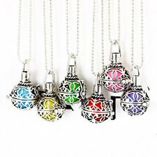 Vintage Silver Charms Locket Essential Oil Aromatherapy Diffuser 2017 Necklace
