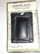 Geoffrey Allen Leather magnetic money clip wallet,Blk-SEE DESCRIPTION FOR PICS