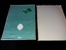 New & Unused – Vintage Table Cloth – Irish Linen (Made in Ireland) Green Size 51
