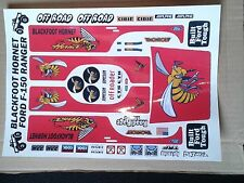BLACK FOOT HORNET CUSTOM TAMIYA HPI LOSI  PRECUT  DECALS STICKERS 1/10th RC CARS