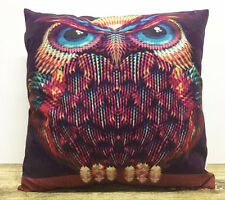 Christmas gift!Simple painting owl Home Decor sofa Cushion Covers Pillow Case