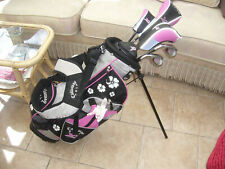 NEW LEFT HAND GIRLS SET CALLAWAY XJ SERIES GOLF CLUBS JUNIOR AGED 7 TO 11 +EXTRA