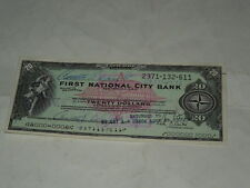20 TEN DOLLARS FIRST NATIONAL CITY BANK DEL 1977-VERAMENTE MOLTO INTERESSANTE