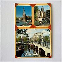 Amsterdam Holland 3 Views Postcard (P408)