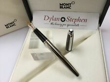 Montblanc meisterstuck solitaire carbon steel 145 fountain pen NOS RRP £650