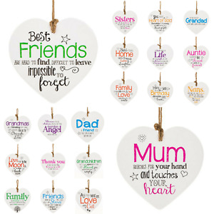 HANGING CERAMIC HEARTS FROM THE HEART SENTIMENTAL FRIENDS GIFTS