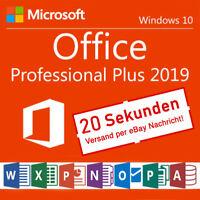 Microsoft Office Professional Plus 2019 Deutsche Lizenz Pro Key Software Mail