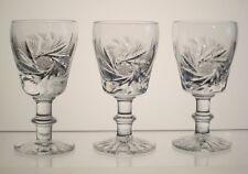 "PINWHEEL CRYSTAL Liqueur or Cordials 3 3/8"", SET OF THREE, SAGA BOHEMIA aka"