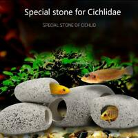 Stone Rock Cave Aquarium Tropical Cichlid Fish Tank Ornament Size S/M/L