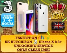 UNLOCK UK GB ENGLAND 3 THREE HUTCHISON IPHONE 11 XS XR X 8 7 6 UNLOCKING SERVICE