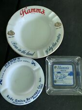 Rare Vintage Lot of 3 Hamm's Ashtrays Ash Tray