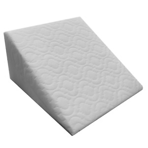 Back Support Reflux Foam Support Bed Wedge Pillow Quilted Removable Zip Cover UK