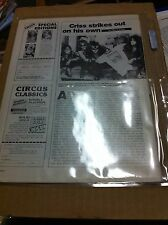 KISS PETER CRISS LEAVES KISS 1980 CIRCUS MAGAZINE ORIGINAL 2 PAGE ARTICLE CAT