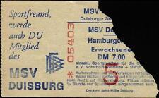 Ticket BL 74/75 MSV Duisburg - Hamburger SV