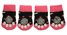 New listing Cute Pink & Black Tux Anti-Slip Dog Socks for Clean & Comfy Paws Pets Puppy 4pcs