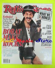 ROLLING STONE USA MAGAZINE 1014/2006 Sacha Baron Cohen Rod Stewart   No cd