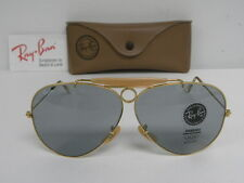 New Vintage B&L Ray Ban Shooter Gold Changeable Gray/Blue USA Outdoorsman NOS