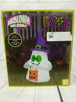 Gemmy Airblown Inflatable Halloween 3.5 Ft Lighted Trick Or Treat Ghost New