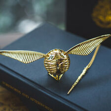 HP Harry Potter Golden Snitch Ring Box Jewelry Storage Necklace Chain Kids Gift