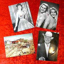 4 Tonbildkarten Alice & Ellen Kessler Gina Lollobrigida Hans Albers