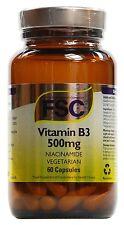 Vitamin B3 500mg Niacinamide - FSC 60 Vegetarian Capsules
