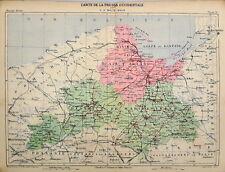 Westpreußen, Landkarte von Erhard,  Farblithographie von 1888
