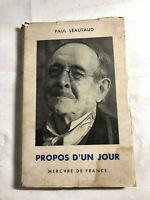 Propos d'un jour par Paul Lèautaud 1952