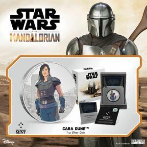 2021 Niue Star Wars Mandalorian Cara Dune 1 oz Silver Coin - SOLD OUT