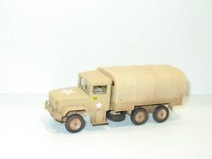 Solido Truck Reo Kaiser Jeep Sand Military USA With Rims Dark Camo