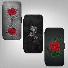 Rose Roses Flower Floral Print Flowers WALLET FLIP PHONE CASE COVER