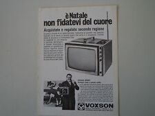 advertising Pubblicità 1968 TELEVISORE VOXSON SPRINT
