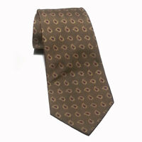 "POLO Ralph Lauren Men Dress Silk Tie Brown Paisley 4"" wide 60"" Long USA"