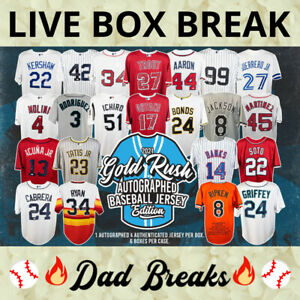 SEATTLE MARINERS Gold Rush autographed/signed baseball jersey LIVE BOX BREAK