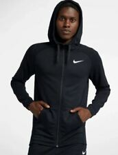 Men's Nike Dri-Fit Full Zip Training Black Hoodie Large 860465-010