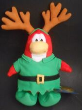 """Disney Club Penguin Elf Lutin with Reindeer Antlers SEALED COIN 10"""" Plush NEW"""