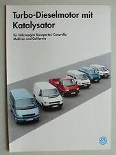 Prospekt Volkswagen VW T4 Turbo-Dieselmotor mit Katalysator, 3.1993, 2 Seiten