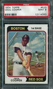 1974 Topps #523 Cecil Cooper PSA 9 Mint!