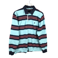 Brooks Brothers 346 Mens Polo Size L Multicolor Striped Long Sleeve Collar Logo