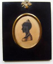 More details for silhouette a young lady facing left wm hamlet the elder (attrib) c1810