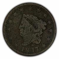 1817 1c Coronet Head Large Cent - Fine Details - SKU-Y2305