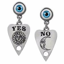 ALCHEMY PLANCHETTE OUIJA SPIRIT BOARD EARRINGS Gothic Eye Seance + FREE GIFT BOX