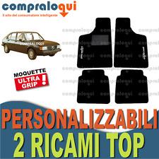 per ALFA ROMEO ALFASUD TAPPETINI per AUTO su MISURA in MOQUETTE + 2 RICAMI TOP